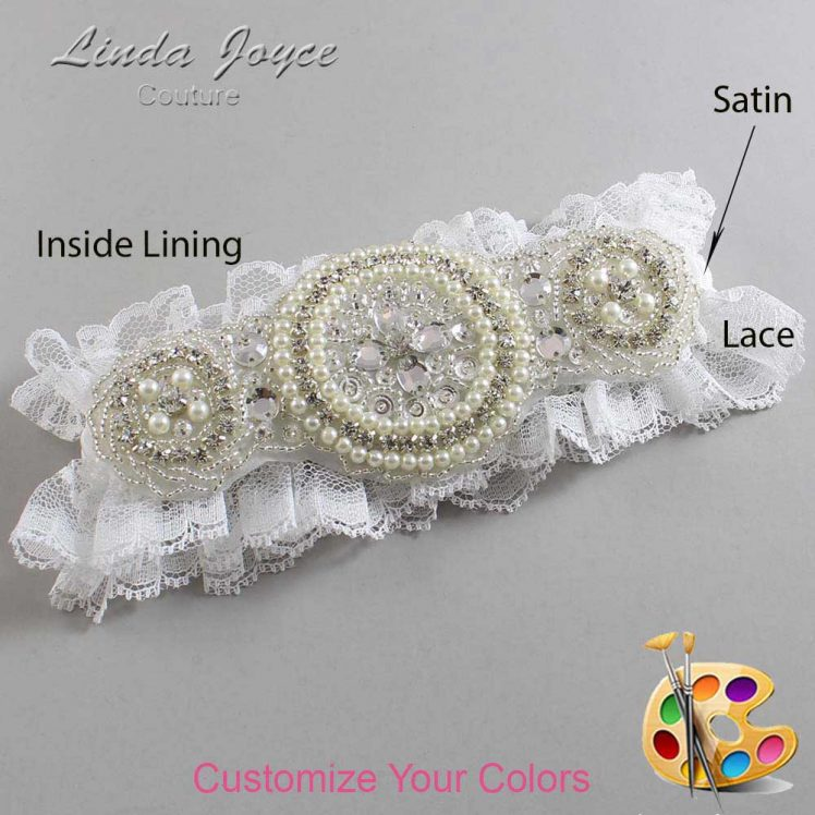 Couture Garters / Custom Wedding Garter / Customizable Wedding Garters / Personalized Wedding Garters / Linda #11-A00 / Wedding Garters / Bridal Garter / Prom Garter / Linda Joyce Couture