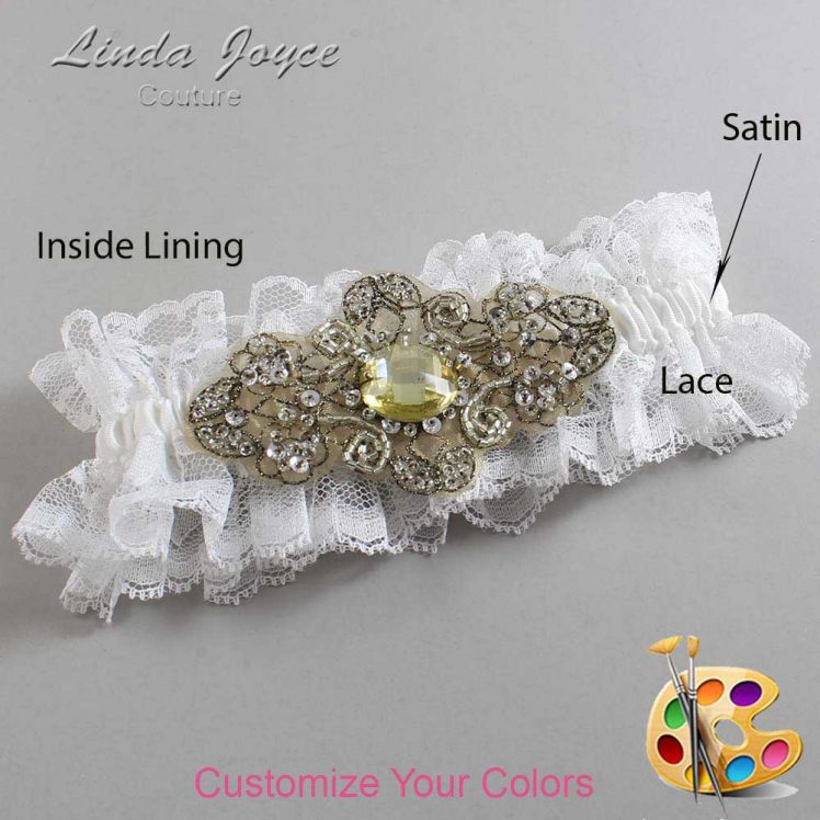 Couture Garters / Custom Wedding Garter / Customizable Wedding Garters / Personalized Wedding Garters / Bijou # 11-A11-Antique / Wedding Garters / Bridal Garter / Prom Garter / Linda Joyce Couture