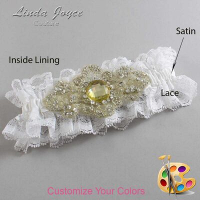 Couture Garters / Custom Wedding Garter / Customizable Wedding Garters / Personalized Wedding Garters / Bijou # 11-A03-Gold / Wedding Garters / Bridal Garter / Prom Garter / Linda Joyce Couture