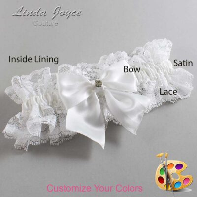 Couture Garters / Custom Wedding Garter / Customizable Wedding Garters / Personalized Wedding Garters / Pamela #11-B01-M03 / Wedding Garters / Bridal Garter / Prom Garter / Linda Joyce Couture