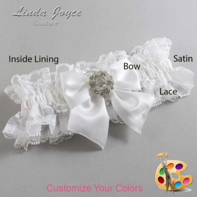 Couture Garters / Custom Wedding Garter / Customizable Wedding Garters / Personalized Wedding Garters / Elizabeth #11-B01-M11 / Wedding Garters / Bridal Garter / Prom Garter / Linda Joyce Couture