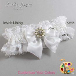 Customizable Wedding Garter / Adelle #11-B01-M14-Silver