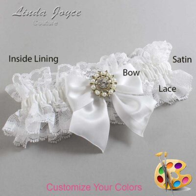 Couture Garters / Custom Wedding Garter / Customizable Wedding Garters / Personalized Wedding Garters / Adelle #11-B01-M14 / Wedding Garters / Bridal Garter / Prom Garter / Linda Joyce Couture