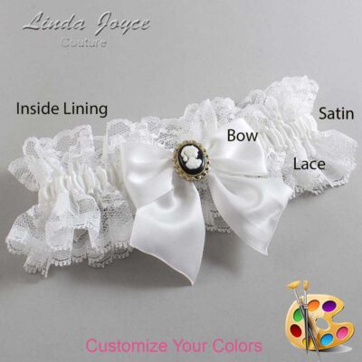 Couture Garters / Custom Wedding Garter / Customizable Wedding Garters / Personalized Wedding Garters / Amy #11-B01-M15 / Wedding Garters / Bridal Garter / Prom Garter / Linda Joyce Couture