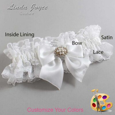 Couture Garters / Custom Wedding Garter / Customizable Wedding Garters / Personalized Wedding Garters / Cynthia #11-B01-M16 / Wedding Garters / Bridal Garter / Prom Garter / Linda Joyce Couture