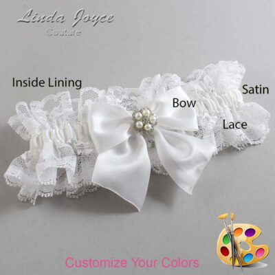 Couture Garters / Custom Wedding Garter / Customizable Wedding Garters / Personalized Wedding Garters / Kourtney #11-B01-M20 / Wedding Garters / Bridal Garter / Prom Garter / Linda Joyce Couture