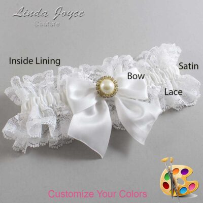 Couture Garters / Custom Wedding Garter / Customizable Wedding Garters / Personalized Wedding Garters / Paige #11-B01-M21 / Wedding Garters / Bridal Garter / Prom Garter / Linda Joyce Couture