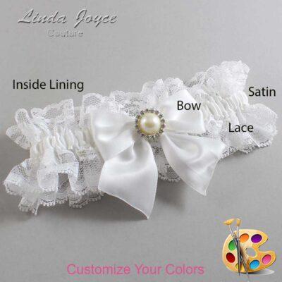 Customizable Wedding Garter / Paige #11-B01-M22-Silver