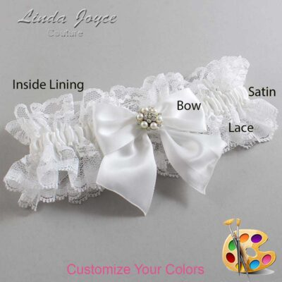 Couture Garters / Custom Wedding Garter / Customizable Wedding Garters / Personalized Wedding Garters / Naomi #11-B01-M23 / Wedding Garters / Bridal Garter / Prom Garter / Linda Joyce Couture