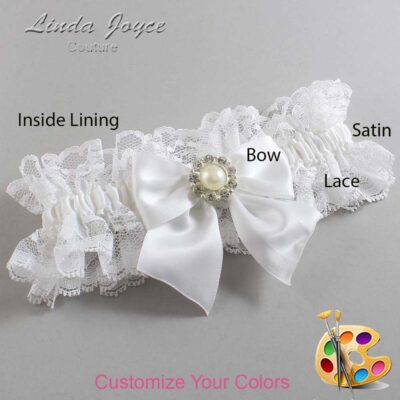 Customizable Wedding Garter / Amanda #11-B01-M24-Silver