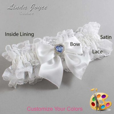 Couture Garters / Custom Wedding Garter / Customizable Wedding Garters / Personalized Wedding Garters / Kittie #11-B01-M25 / Wedding Garters / Bridal Garter / Prom Garter / Linda Joyce Couture