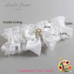 Customizable Wedding Garter / Larissa #11-B01-M27-Silver