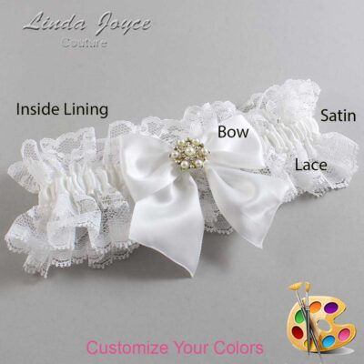 Couture Garters / Custom Wedding Garter / Customizable Wedding Garters / Personalized Wedding Garters / Larissa #11-B01-M27 / Wedding Garters / Bridal Garter / Prom Garter / Linda Joyce Couture