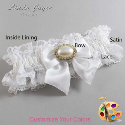 Couture Garters / Custom Wedding Garter / Customizable Wedding Garters / Personalized Wedding Garters / Nicole #11-B01-M28 / Wedding Garters / Bridal Garter / Prom Garter / Linda Joyce Couture