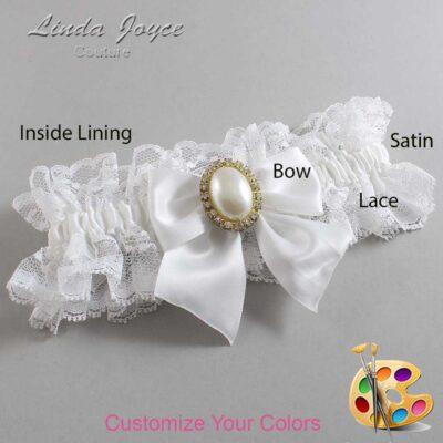 Couture Garters / Custom Wedding Garter / Customizable Wedding Garters / Personalized Wedding Garters / Maggie #11-B01-M29 / Wedding Garters / Bridal Garter / Prom Garter / Linda Joyce Couture