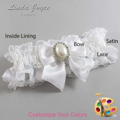 Couture Garters / Custom Wedding Garter / Customizable Wedding Garters / Personalized Wedding Garters / Maggie #11-B01-M31 / Wedding Garters / Bridal Garter / Prom Garter / Linda Joyce Couture