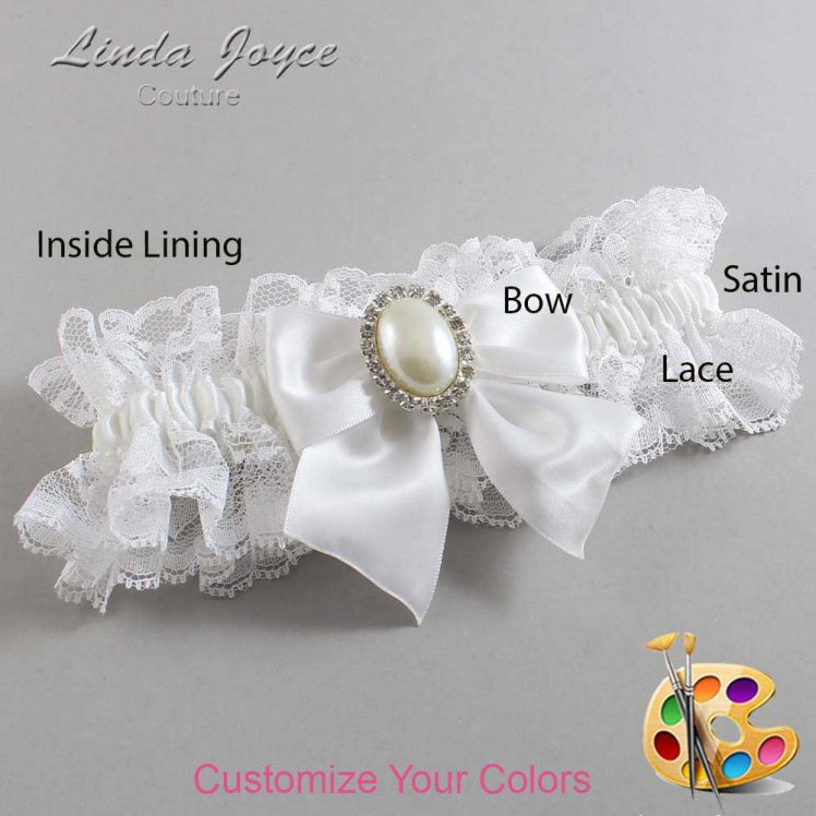 Couture Garters / Custom Wedding Garter / Customizable Wedding Garters / Personalized Wedding Garters / Maggie #11-B01-M31 / Wedding Garters / Bridal Garter / Prom Garter / Linda Joyce Couture