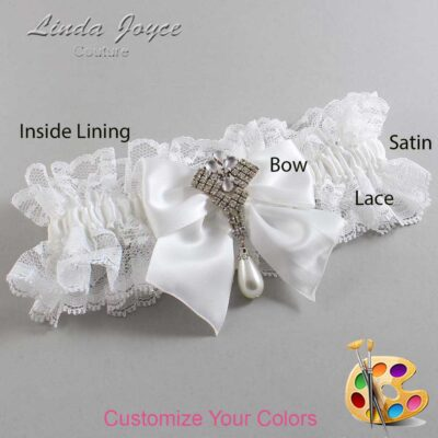 Couture Garters / Custom Wedding Garter / Customizable Wedding Garters / Personalized Wedding Garters / Madeline #11-B01-M33 / Wedding Garters / Bridal Garter / Prom Garter / Linda Joyce Couture
