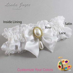 Couture Garters / Custom Wedding Garter / Customizable Wedding Garters / Personalized Wedding Garters / Michaela #11-B01-M34 / Wedding Garters / Bridal Garter / Prom Garter / Linda Joyce Couture