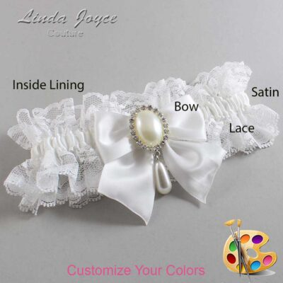 Couture Garters / Custom Wedding Garter / Customizable Wedding Garters / Personalized Wedding Garters / Michaela #11-B01-M35 / Wedding Garters / Bridal Garter / Prom Garter / Linda Joyce Couture