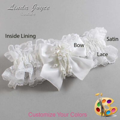 Couture Garters / Custom Wedding Garter / Customizable Wedding Garters / Personalized Wedding Garters / Daphne #11-B01-M38 / Wedding Garters / Bridal Garter / Prom Garter / Linda Joyce Couture