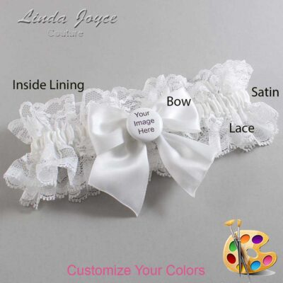 Couture Garters / Custom Wedding Garter / Customizable Wedding Garters / Personalized Wedding Garters / Custom Button #11-B01-M44 / Wedding Garters / Bridal Garter / Prom Garter / Linda Joyce Couture