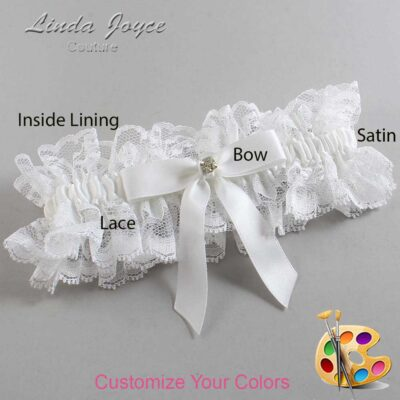 Customizable Wedding Garter / Jana #11-B03-M03-Gold