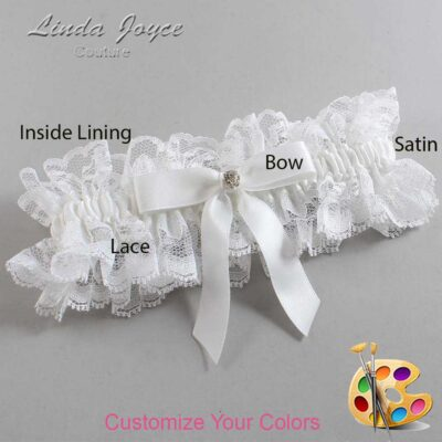 Couture Garters / Custom Wedding Garter / Customizable Wedding Garters / Personalized Wedding Garters / Jana #11-B03-M04 / Wedding Garters / Bridal Garter / Prom Garter / Linda Joyce Couture
