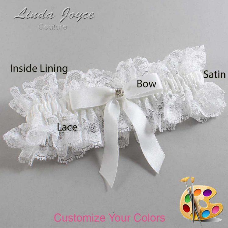 Couture Garters / Custom Wedding Garter / Customizable Wedding Garters / Personalized Wedding Garters / Jana #11-B03-M04 / Wedding Garters / Bridal Garter / Prom Garter / Linda Joyce Couture