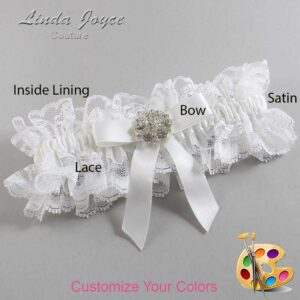 Couture Garters / Custom Wedding Garter / Customizable Wedding Garters / Personalized Wedding Garters / Alicia #11-B03-M11 / Wedding Garters / Bridal Garter / Prom Garter / Linda Joyce Couture