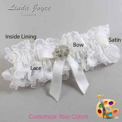Couture Garters / Custom Wedding Garter / Customizable Wedding Garters / Personalized Wedding Garters / Alicia #11-B03-M11 / Wedding Garters / Bridal Garter / Prom Garter / Linda Joyce Couture