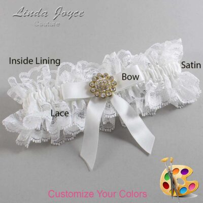 Couture Garters / Custom Wedding Garter / Customizable Wedding Garters / Personalized Wedding Garters / Samantha #11-B03-M12 / Wedding Garters / Bridal Garter / Prom Garter / Linda Joyce Couture