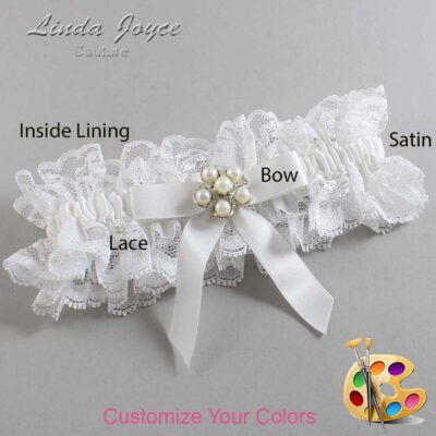 Couture Garters / Custom Wedding Garter / Customizable Wedding Garters / Personalized Wedding Garters / Natalie #11-B03-M13 / Wedding Garters / Bridal Garter / Prom Garter / Linda Joyce Couture