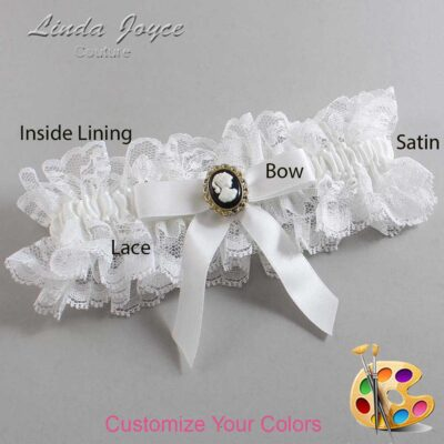 Couture Garters / Custom Wedding Garter / Customizable Wedding Garters / Personalized Wedding Garters / Dinah #11-B03-M15 / Wedding Garters / Bridal Garter / Prom Garter / Linda Joyce Couture