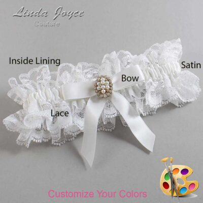 Couture Garters / Custom Wedding Garter / Customizable Wedding Garters / Personalized Wedding Garters / Jenny #11-B03-M17 / Wedding Garters / Bridal Garter / Prom Garter / Linda Joyce Couture