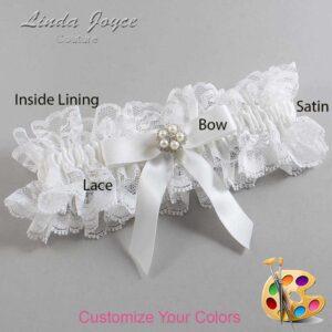 Couture Garters / Custom Wedding Garter / Customizable Wedding Garters / Personalized Wedding Garters / Amelia #11-B03-M20 / Wedding Garters / Bridal Garter / Prom Garter / Linda Joyce Couture