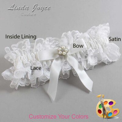 Couture Garters / Custom Wedding Garter / Customizable Wedding Garters / Personalized Wedding Garters / Amelia #11-B03-M20 / Wedding Garters / Bridal Garter / Prom Garter / Linda Joyce Couture