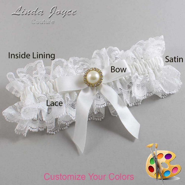 Couture Garters / Custom Wedding Garter / Customizable Wedding Garters / Personalized Wedding Garters / Doreen #11-B03-M21 / Wedding Garters / Bridal Garter / Prom Garter / Linda Joyce Couture