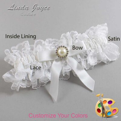 Couture Garters / Custom Wedding Garter / Customizable Wedding Garters / Personalized Wedding Garters / Doreen #11-B03-M22 / Wedding Garters / Bridal Garter / Prom Garter / Linda Joyce Couture