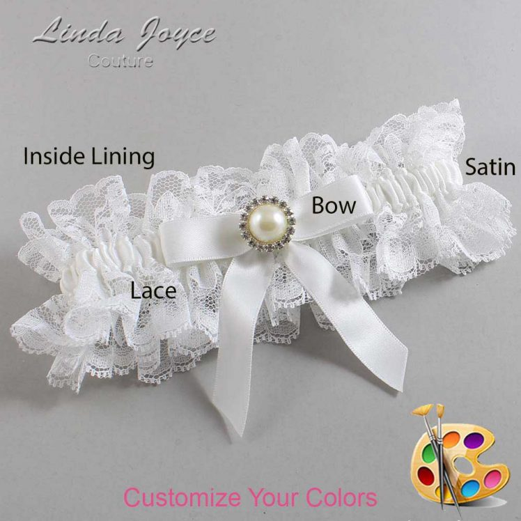 Couture Garters / Custom Wedding Garter / Customizable Wedding Garters / Personalized Wedding Garters / Doreen #11-B03-M22 / Wedding Garters / Bridal Garter / Prom Garter / Linda Joyce Couture