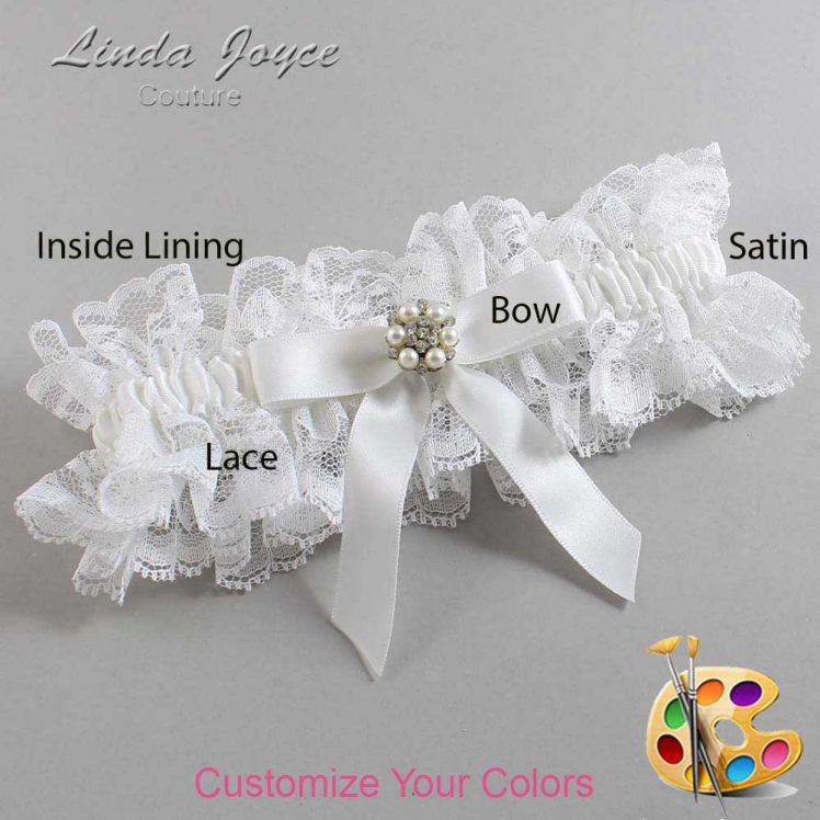 Couture Garters / Custom Wedding Garter / Customizable Wedding Garters / Personalized Wedding Garters / Kayla #11-B03-M23 / Wedding Garters / Bridal Garter / Prom Garter / Linda Joyce Couture