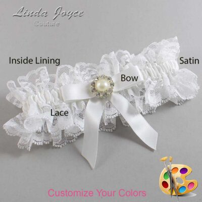 Couture Garters / Custom Wedding Garter / Customizable Wedding Garters / Personalized Wedding Garters / Katherine #11-B03-M24 / Wedding Garters / Bridal Garter / Prom Garter / Linda Joyce Couture