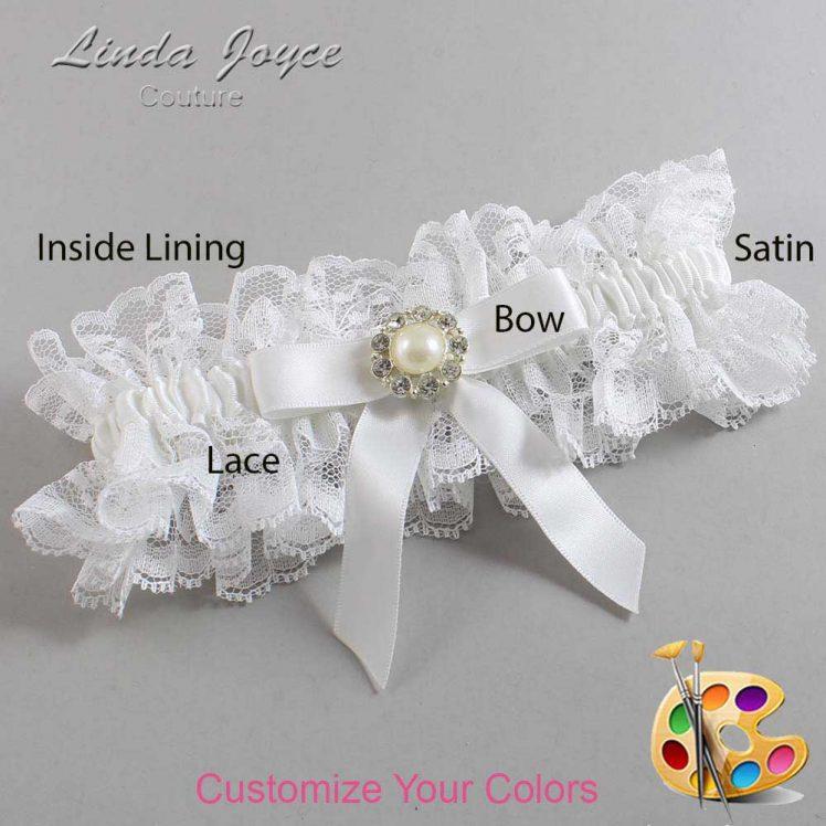 Couture Garters / Custom Wedding Garter / Customizable Wedding Garters / Personalized Wedding Garters / Katherine #11-B03-M24 / Wedding Garters / Bridal Garter / Prom Garter / Linda Joyce Couture