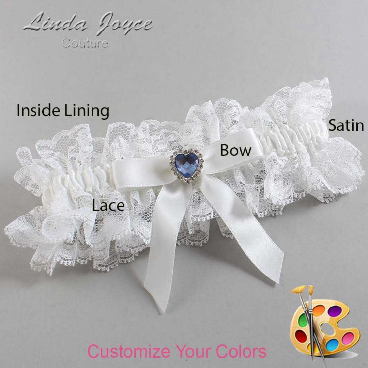 Couture Garters / Custom Wedding Garter / Customizable Wedding Garters / Personalized Wedding Garters / Gina #11-B03-M25 / Wedding Garters / Bridal Garter / Prom Garter / Linda Joyce Couture