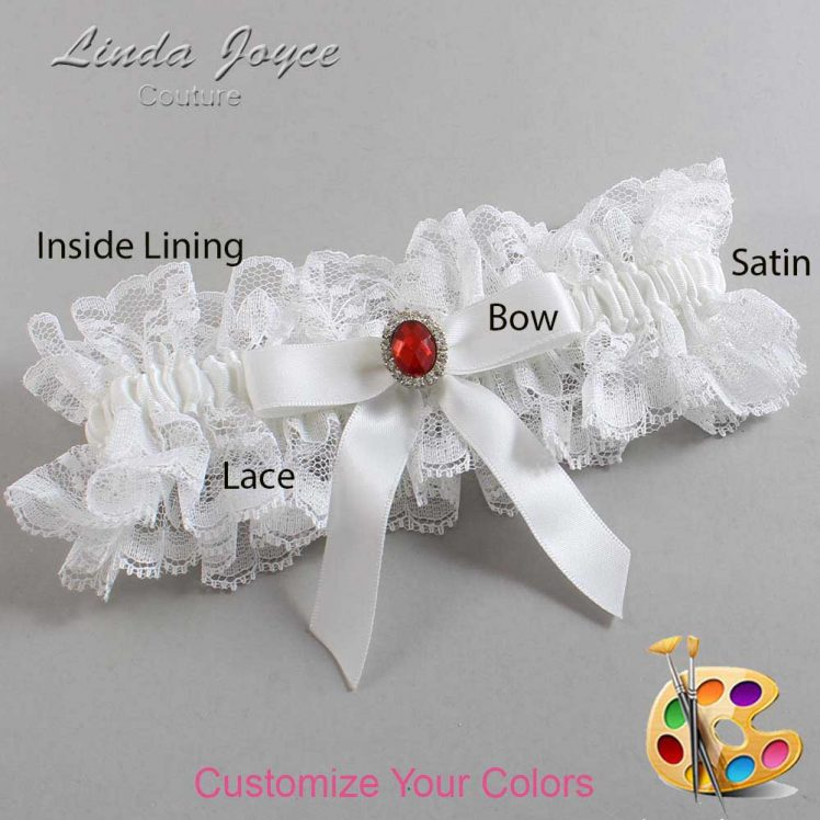Couture Garters / Custom Wedding Garter / Customizable Wedding Garters / Personalized Wedding Garters / Fran #11-B03-M26 / Wedding Garters / Bridal Garter / Prom Garter / Linda Joyce Couture
