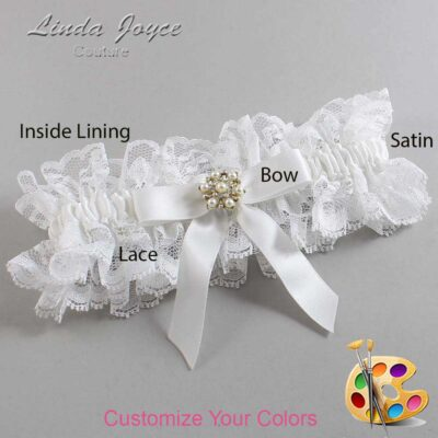 Couture Garters / Custom Wedding Garter / Customizable Wedding Garters / Personalized Wedding Garters / Carolee #11-B03-M27 / Wedding Garters / Bridal Garter / Prom Garter / Linda Joyce Couture