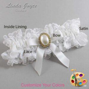 Couture Garters / Custom Wedding Garter / Customizable Wedding Garters / Personalized Wedding Garters / Harmony #11-B03-M29 / Wedding Garters / Bridal Garter / Prom Garter / Linda Joyce Couture