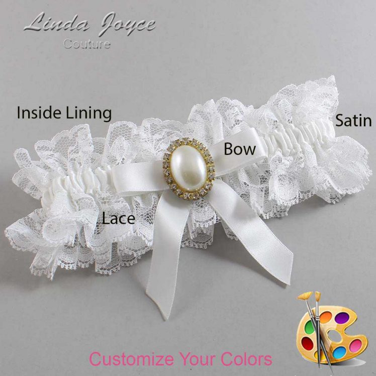 Couture Garters / Custom Wedding Garter / Customizable Wedding Garters / Personalized Wedding Garters / Harmony #11-B03-M29 / Wedding Garters / Bridal Garter / Prom Garter / Linda Joyce Couture