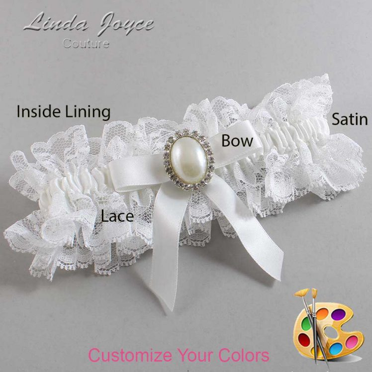 Couture Garters / Custom Wedding Garter / Customizable Wedding Garters / Personalized Wedding Garters / Harmony #11-B03-M31 / Wedding Garters / Bridal Garter / Prom Garter / Linda Joyce Couture