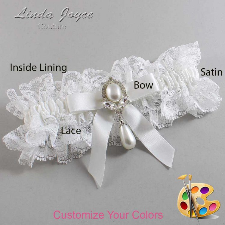 Couture Garters / Custom Wedding Garter / Customizable Wedding Garters / Personalized Wedding Garters / Bethany #11-B03-M32 / Wedding Garters / Bridal Garter / Prom Garter / Linda Joyce Couture